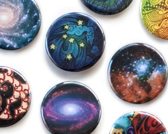 Stars Space and Galaxy Buttons