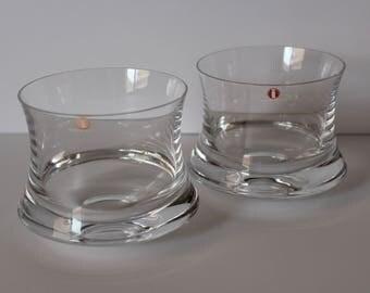 Two Iittala Romantica Bar Glasses Tapio Wirkkala Design