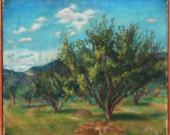 Untitled - Orchard by Felicia Meyer, Oil Painting, 1938