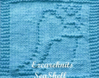 Knitting Cloth Pattern - SEASHELL - PDF