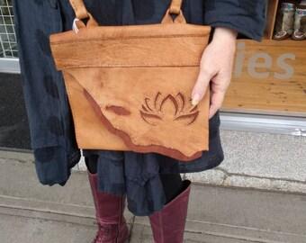 Hand Crafted Lotus Leaf Messenger Bag