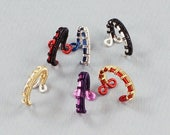 SALE - Bi-Color Ear Cuff - Custom Ear Cuff - Woven Ear Cuff - YOU Pick the Colors - Please read description for instructions