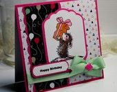 Birthday Card - Handmade Birthday Greeting Card - 3D Card - Happy Birthday House Mouse Gift Stationery OOAK