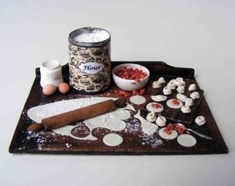 Making tortellini noodles - Preparation board