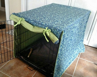 Custom dog crate cover, dog bed cover, dog kennel cover. Your choice of theme and fabric