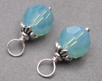 Swarovski Crystal Charms, Pacific Opal Swarovski Crystal Bead, 8mm Swarovski Crystals,  Bead Dangles, Interchangeable Earrings Pendants