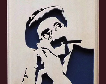 Grouch Marx Hand Cut Wood Picture