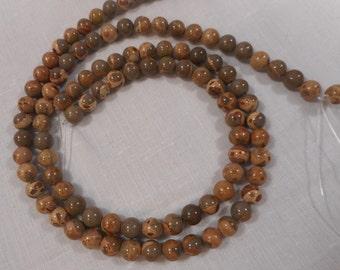8mm Safari Jasper Round Gemstone Beads 15 1/2 in. strand