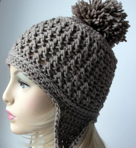 Crochet Pattern Ear Flap Hat Pattern Booth Bay Ear Flap