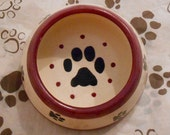 Pawesome Long Ear FOOD Bowl, Berry (Small)