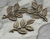50pcs Antique Brass leaf Filigree Jewelry Connectors Setting,Connector Findings,Filigree Findings,Flower Filigree