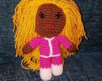 "crochet doll Ru-Paul drag race queen 6"" geek retro gift vegan rainbow pride gay amigurumi fun gift"