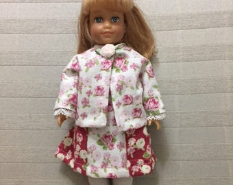 Mini AG doll dress and jacket set