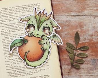 Vitamin Dragon - Orange - bookmark - made to order