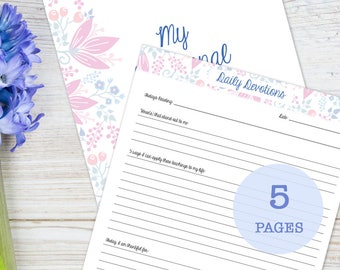 Bible Study Prayer Planner, Daily Devotions, printable