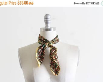 25% OFF Vintage Silk Scarf / Made in India / Block Pattern