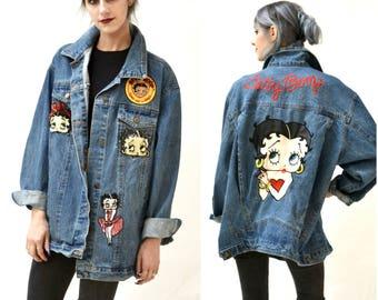 Disney denim jacket | Etsy