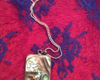 necklace abalone rectangular