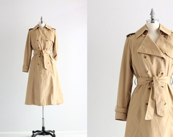 Vintage Trench Coat . Womens Coat . Princess Trench Coat . A Line Coat