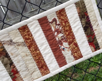 Quilted Patchwork Table Runner for your Kitchen, Bar or Dining Table, Perfect Splash of Rustic Color, Country Western
