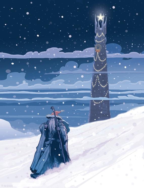 Middle-Earth Christmas Card