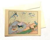 Persian painting postcard/original Persian miniature cards/original Persian painting/ postcard/orient lover gift/Horses