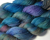SAKURA Silk Merino Lace in Peacock - One of a Kind