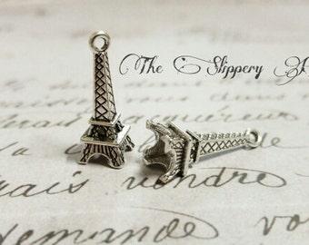 Eiffel Tower Charms Paris Charms Silver Eiffel Tower France Charms Europe Charms Travel Charms 20 pieces
