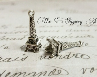 Eiffel Tower Charms Paris Charms Europe Charms France Charms Silver Eiffel Tower BULK Charms Wholesale Charms 50 pieces
