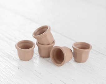 Tiny Terra Cotta Pots - Miniature Fairy Garden Clay Flower Pots, 5 Pcs.