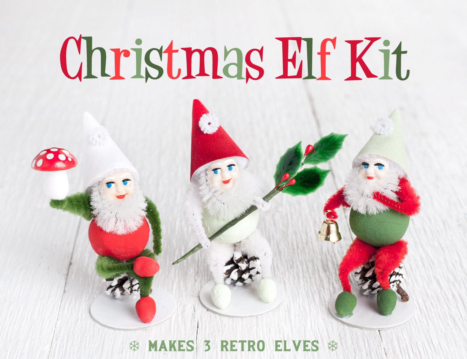Christmas Craft Pinecone Elf