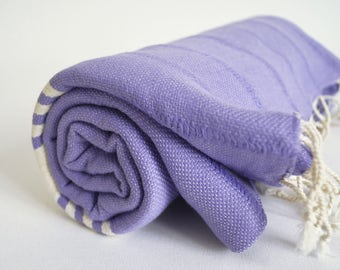 SALE 50 OFF/ Turkish Beach Bath Towel Peshtemal / No15 Lavender color / Bath, Beach, Spa, Swim, Pool Towels