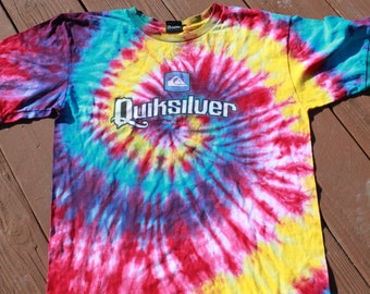Tie Dye Tee Shirt Upcycled Size Small