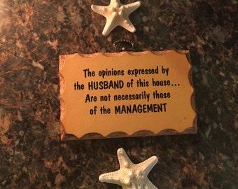 Vintage Paula's Wooden Mottos Plaque - Husband Humor