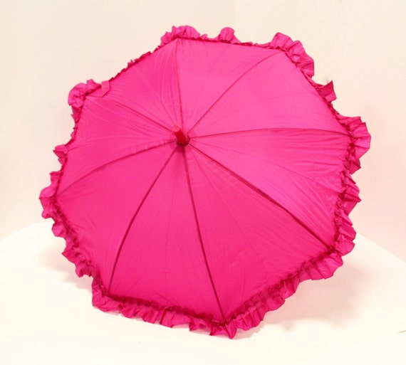 Ruffly Fuchsia Umbrella for Girls