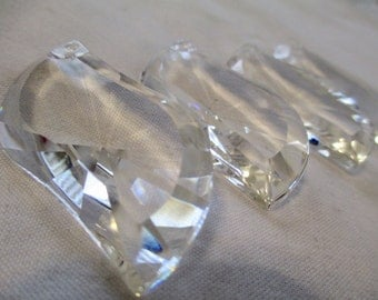 SALE!!! RECLAIMED VINTAGE Chandelier Crystals Set of 17 Various ...