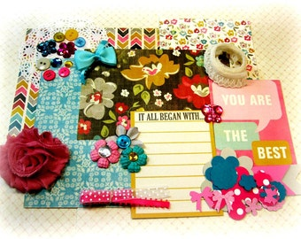 MME Collectable Scrapbook Embellishment Kit Inspiration Kit Life Project Kit for Scrapbooking Cards Mini Albums Tags and Paper crafts 1