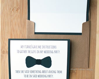 Will You Be My Man of Honor Card / Best Man / Groomsmen / Will You Be My Groomsman / Card from Groom / Ask your Best Man / Guys Stationery