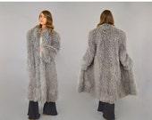 FEBRUARY SALE 80's Mongolian Curly Fur Coat (Grey)