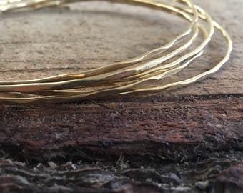Brass Choker <<Flat Plains Stacking Collar>> hammered brass choker | self closure