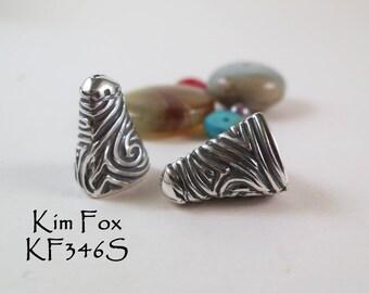 Small Swirl Cones in Stirling Silver