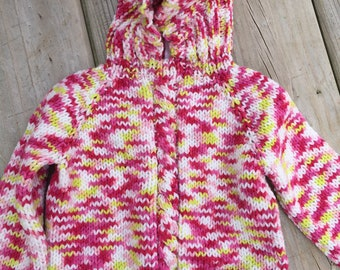 back zip infant hooded sweater 18-24 month size