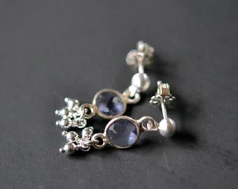 iolite trill stud earrings