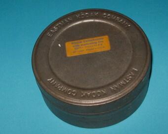 Vintage Kodak Ektachrome Metal Container Tin with Lid Slide Duplicating Film 5071 Process E-S6 KP 71406 Printed in U.S.A.