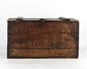 Anheuser Busch Wood Crate 1917  1917 Budweiser Beer Crate PreProhibition Beer Crate Vintage  Anheuser Busch Beer Wood Crate Vintage Beer