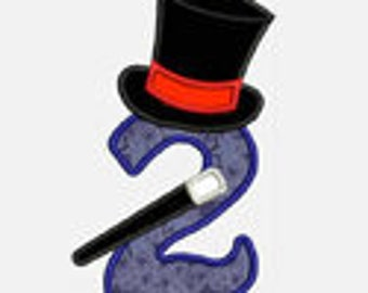 Magician Magic Numbers 1-9...Embroidery Applique Design...Three sizes for multiple hoops...item1240..INSTANT DOWNLOAD
