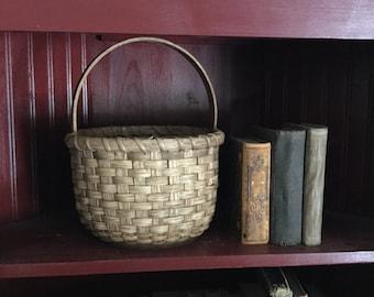 Primitive Handwoven Long Amp Skinny Basket Storage Basket