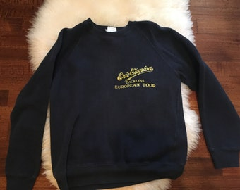1978 Eric Clapton backless world tour original sweatshirt size small