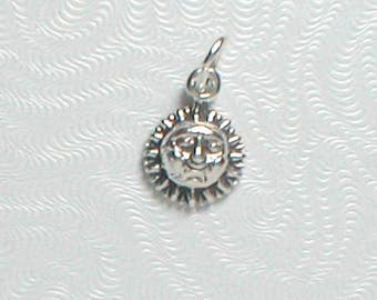 Nail Dangle Sterling Silver Sunshine Small 7mm wide