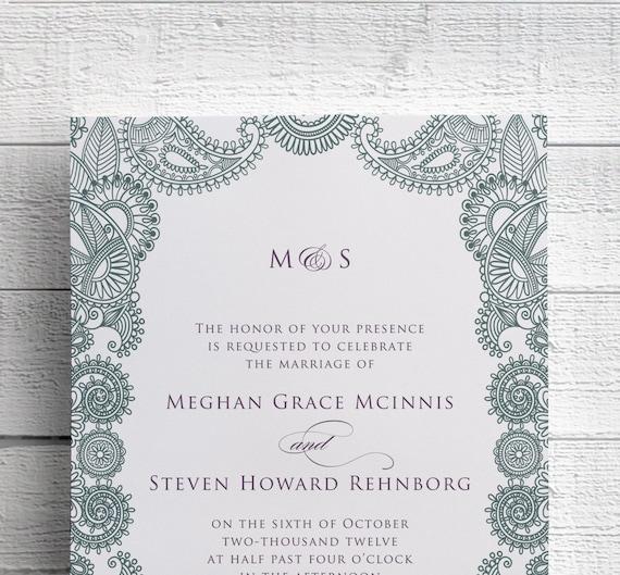 Mehndi Event Invitation : Indian wedding invitations mehndi sangeet